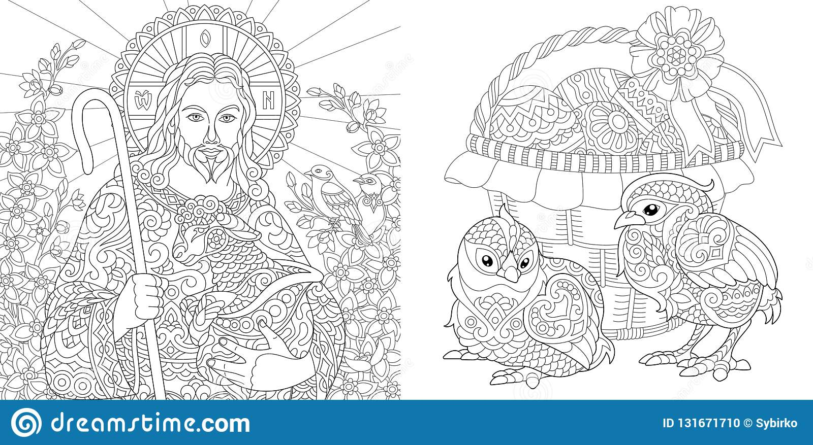 Easter. Coloring Pages. Coloring Book For Adults. Colouring ...