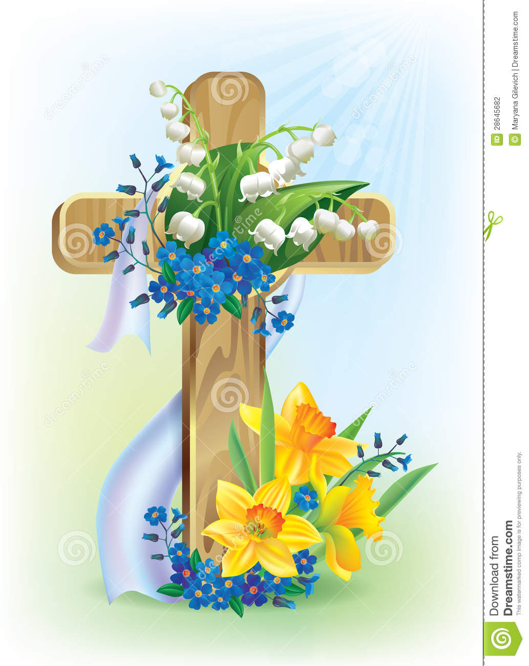 Easter Cross Clip Art Wedding Bouquet Coloring Pages