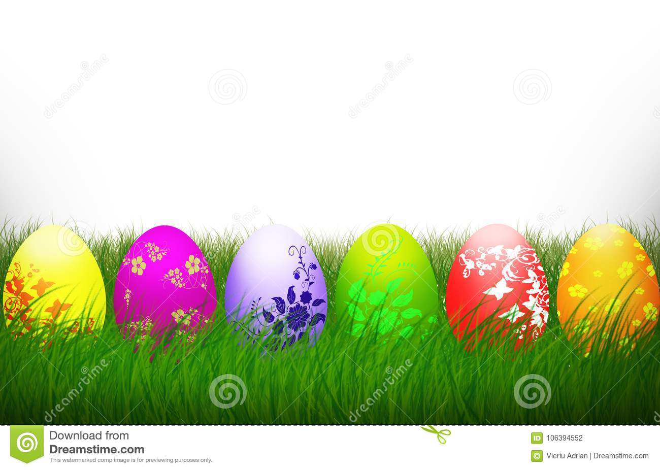 Easter Cross Colorful eggs Religion background holiday