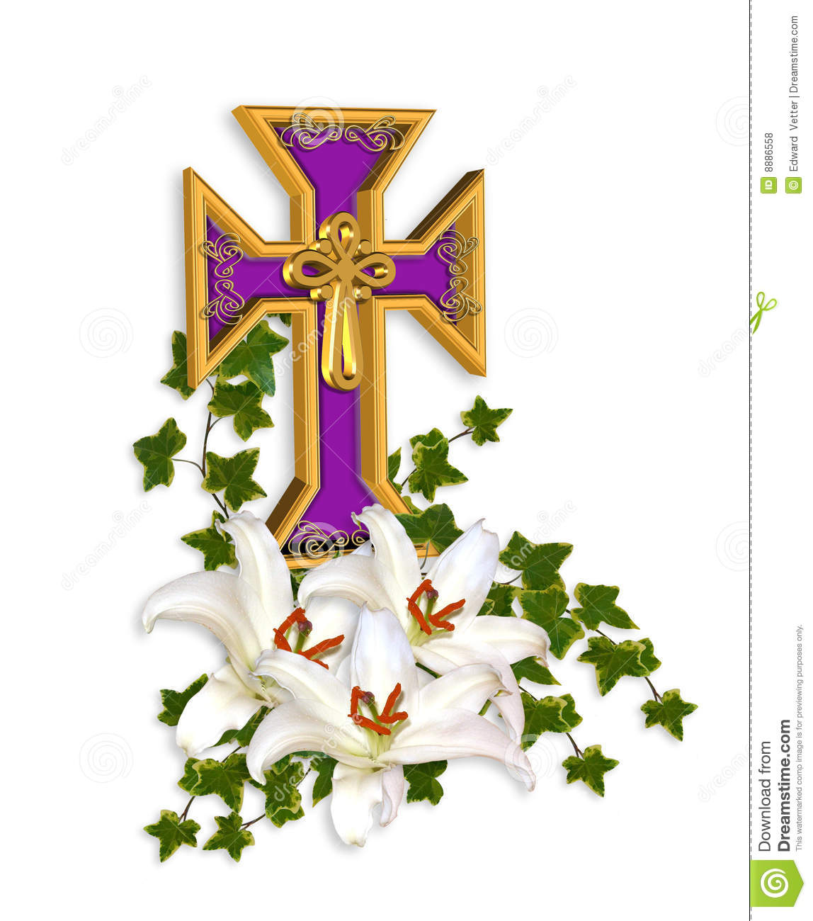 Image and 3D illustration composition of Christian cross, Madonna ...