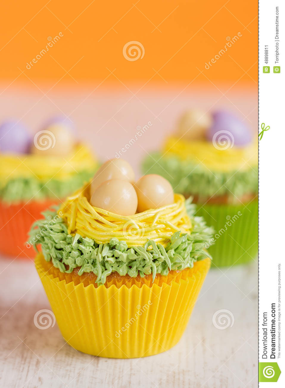 Red Icing Easter Egg Cake
