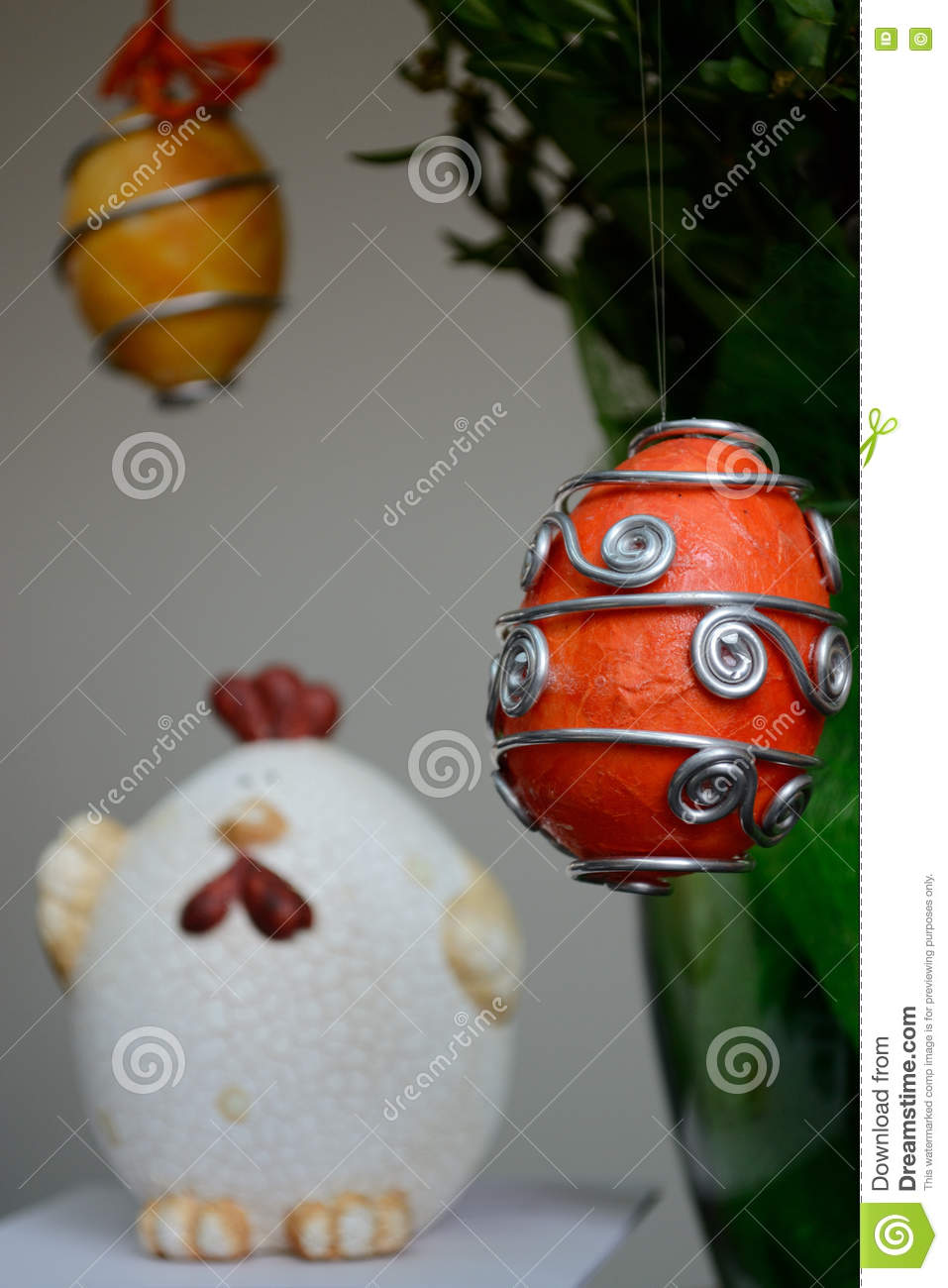 Easter decoration - eggs and chicken