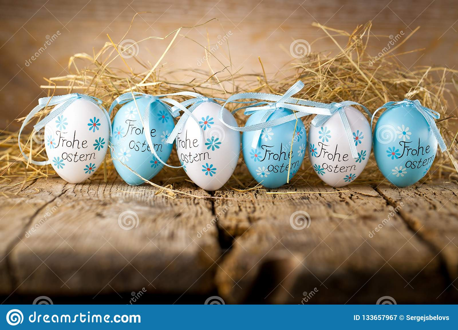 Easter decoration eggs cute bunny. Happy Easter. Vintage style t