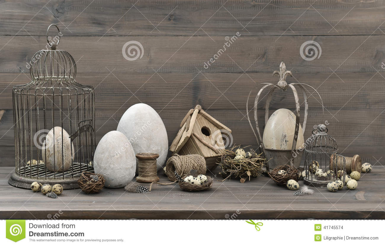 The Easter Birdcage Stock Photo 65173272