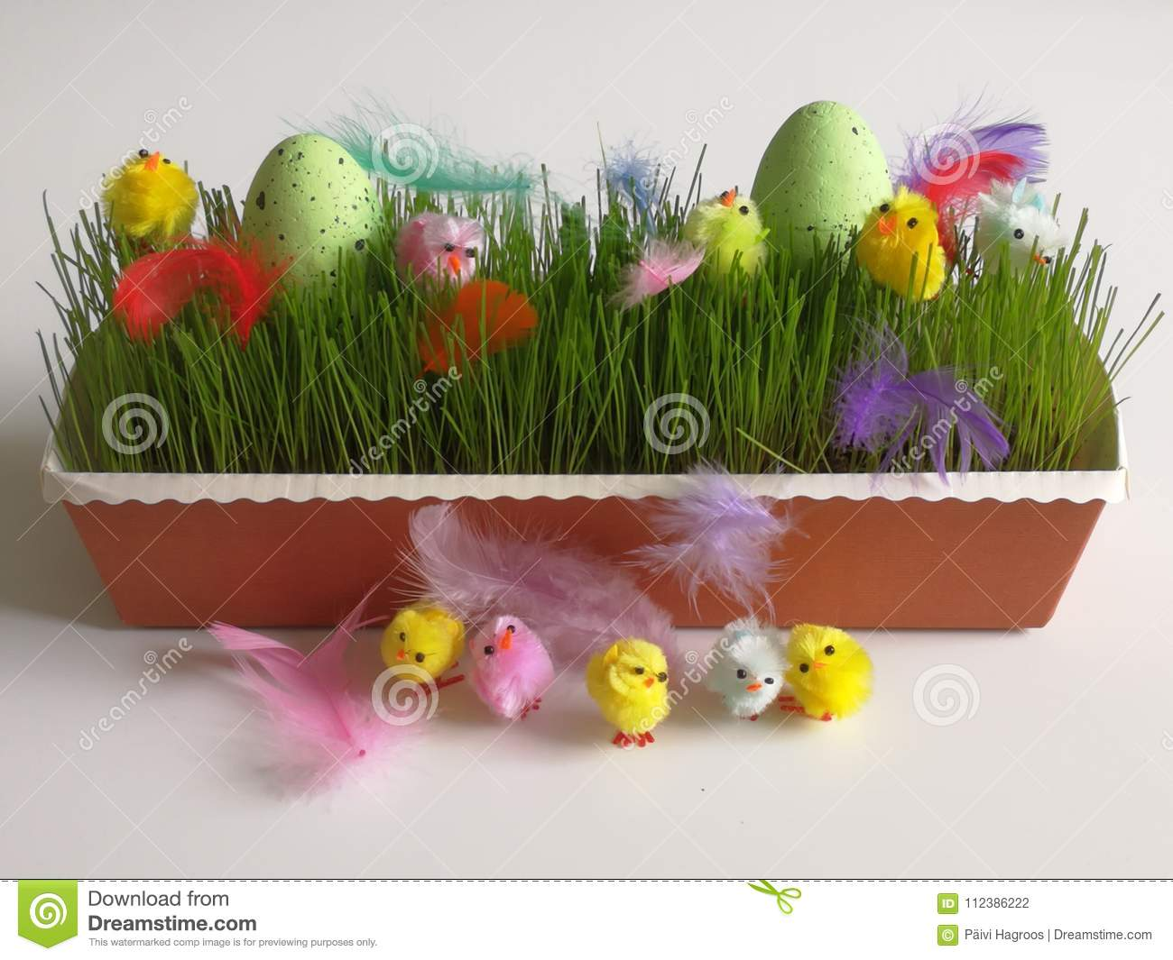 An Easter Decoration Is Ready For Spring Season Holiday Stock Photo