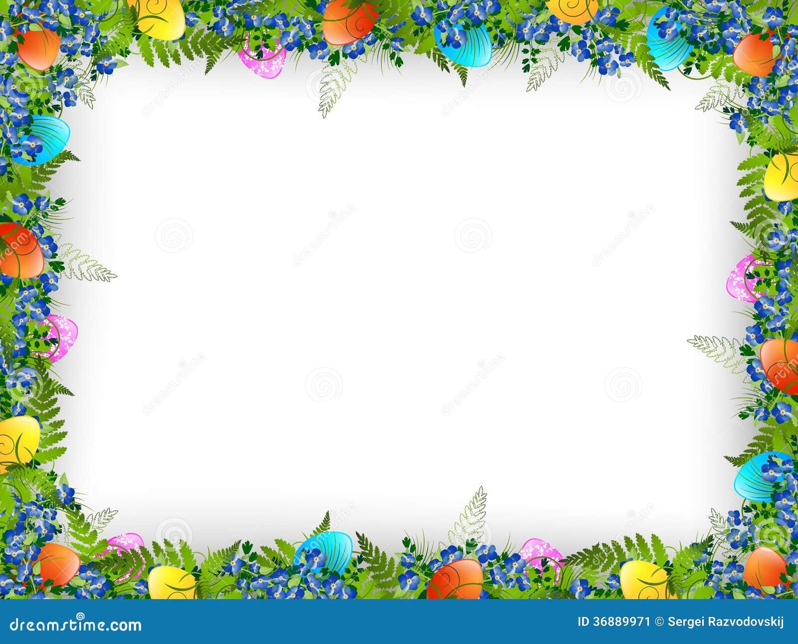 Easter Egg Decor Easter Decorative Frame Stock Image Image 36889971