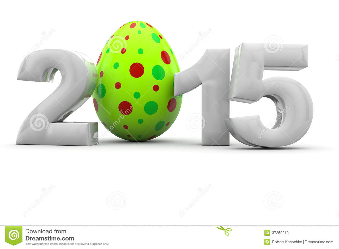Easter 2015 With Easter Egg Royalty Free Stock Photos