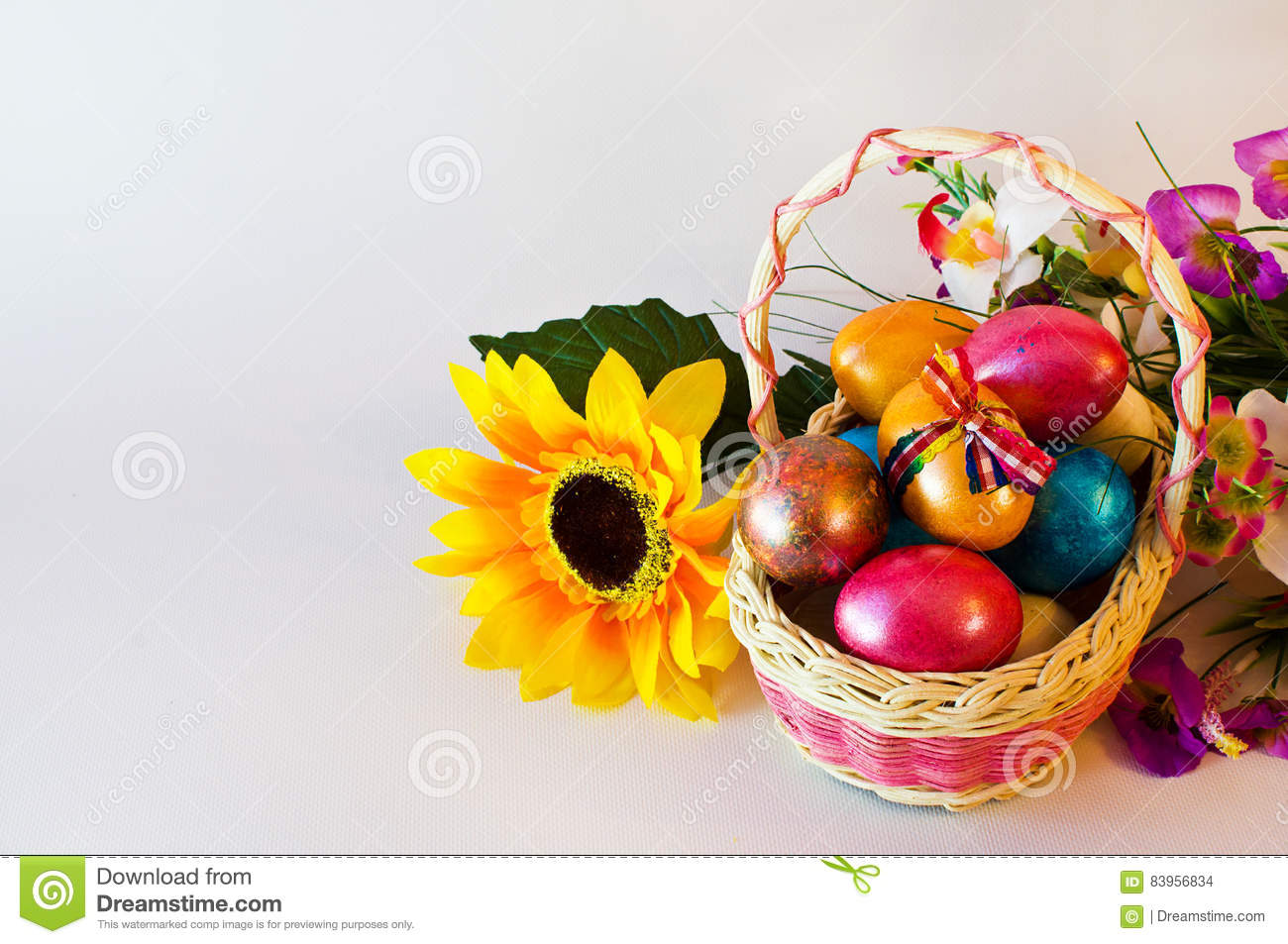Easter/ Easter eggs basket