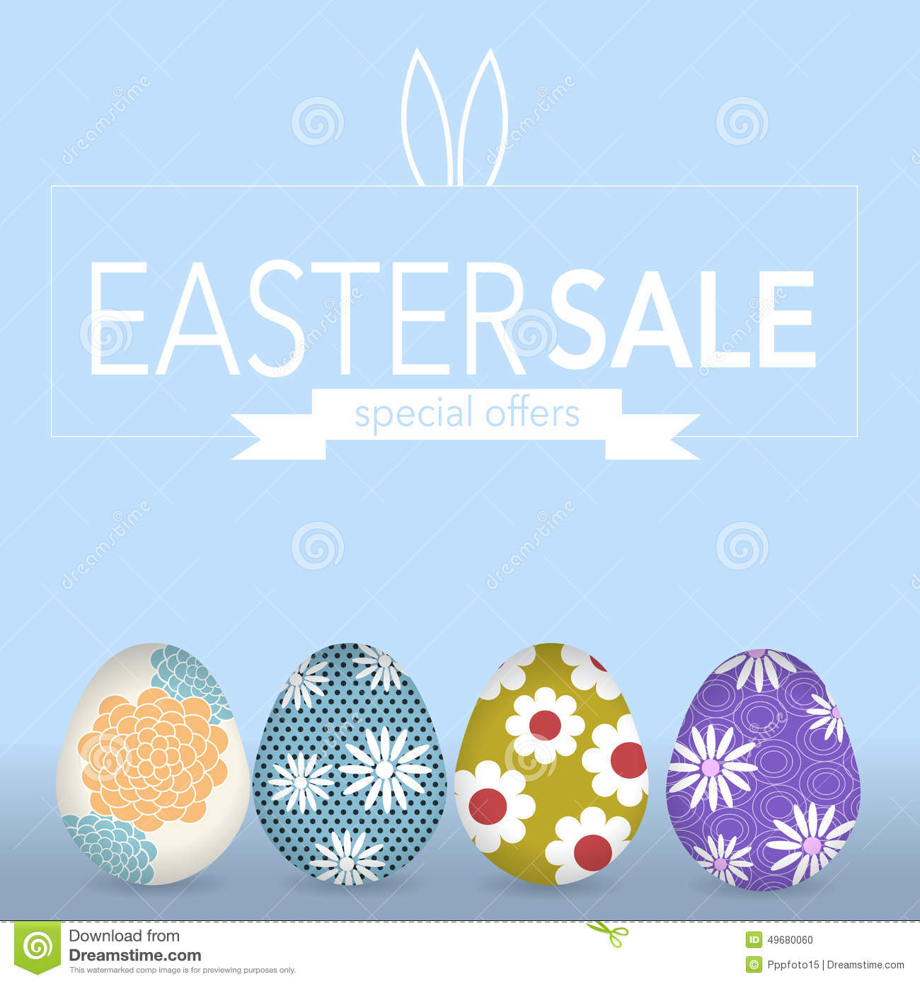 Easter Sale: The Easter Eegs Banner For Easter Sales With Special