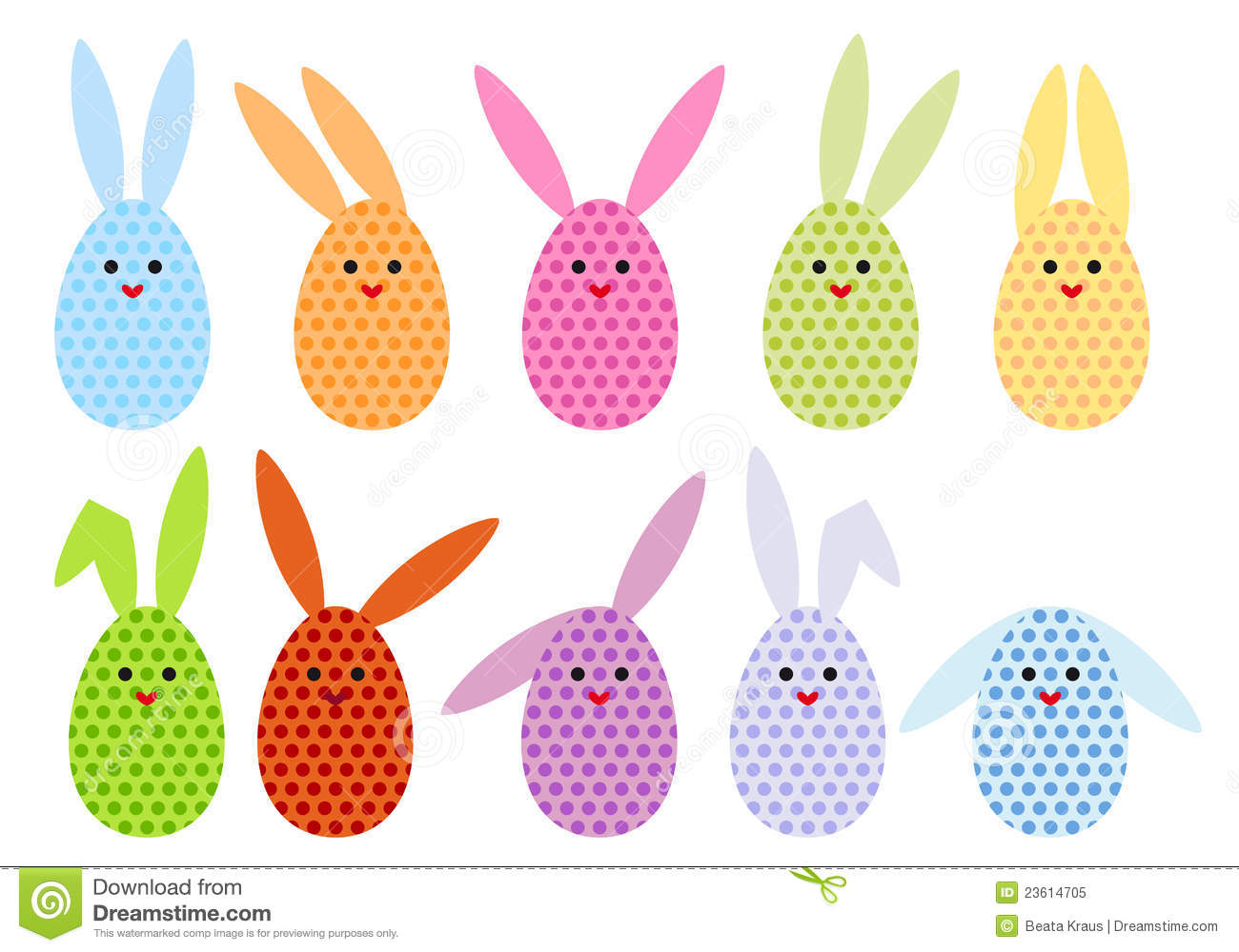 Easter Egg Bunnies, Vector Royalty Free Stock Photo - Image: 23614705