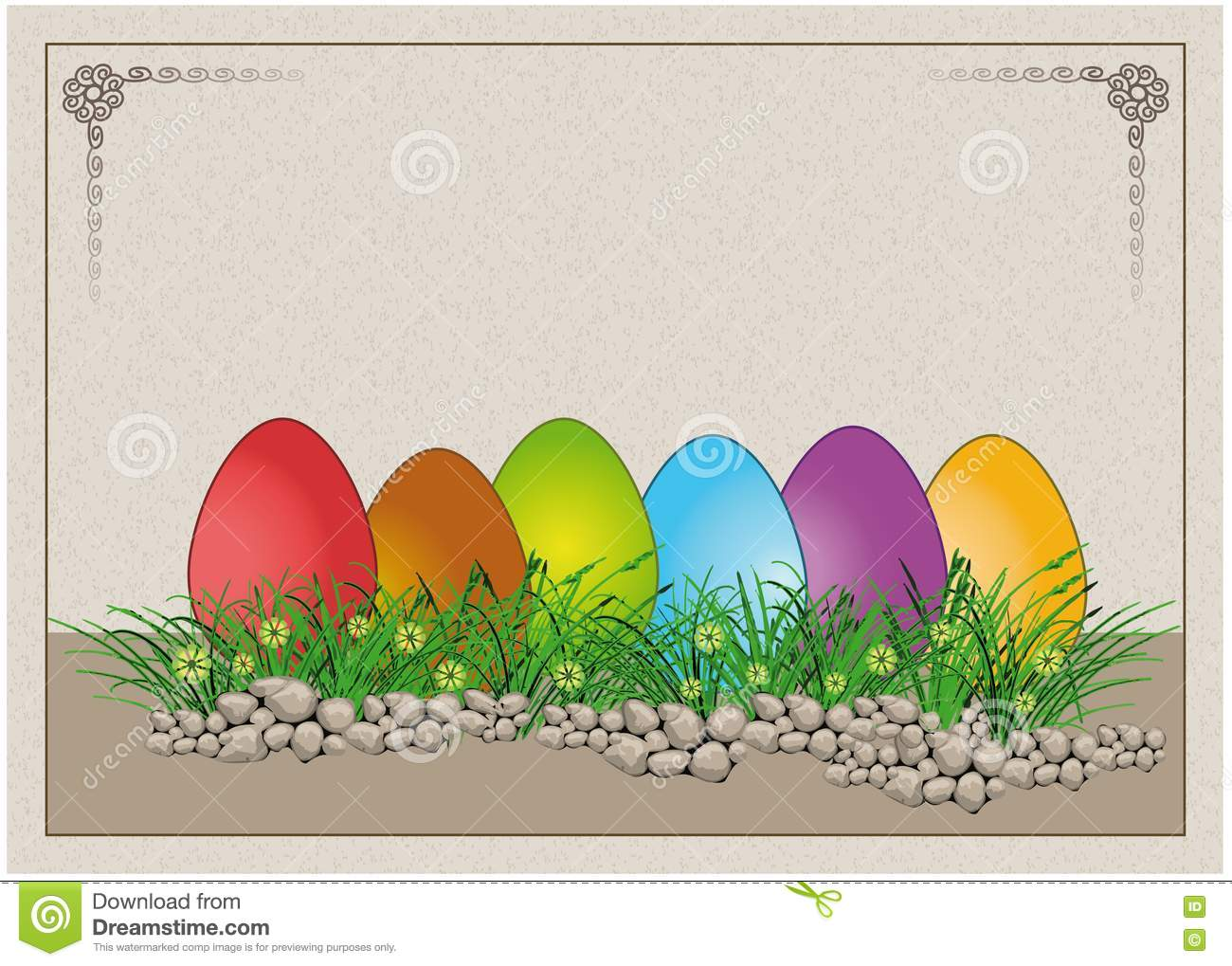 Easter egg colors paper card royalty free stock image - What are the easter colors ...