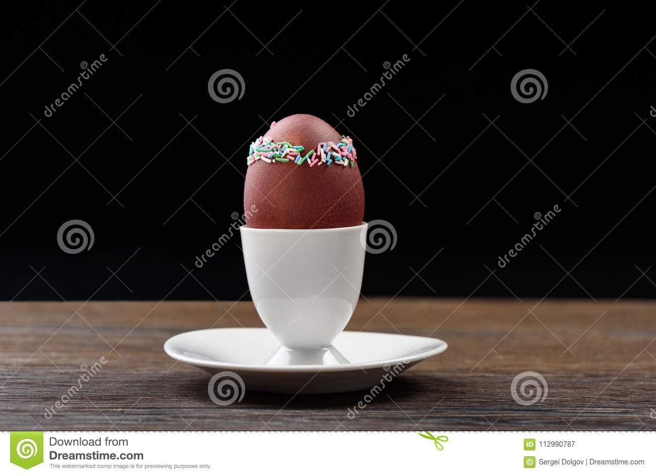 Easter egg with decoration