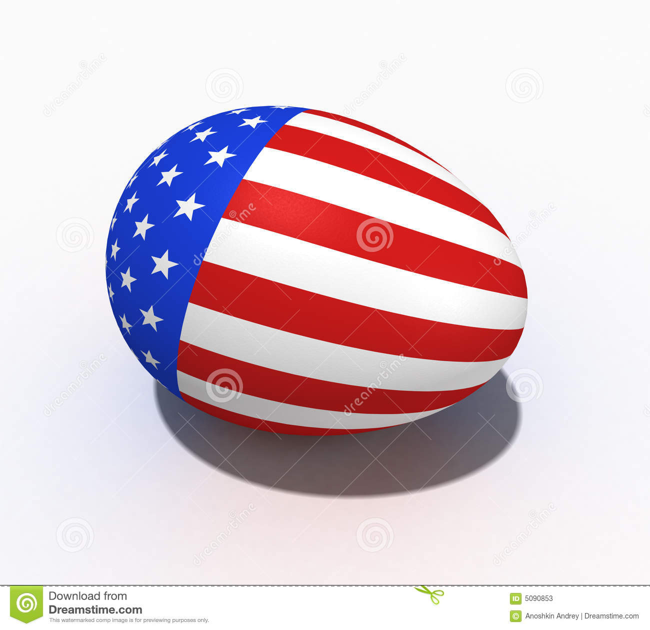 Easter Egg With Figure Of A Flag Of USA Stock Illustration