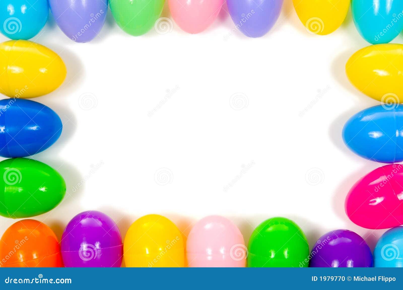 Easter Egg Frame Stock Photo Image Of Yellow Border
