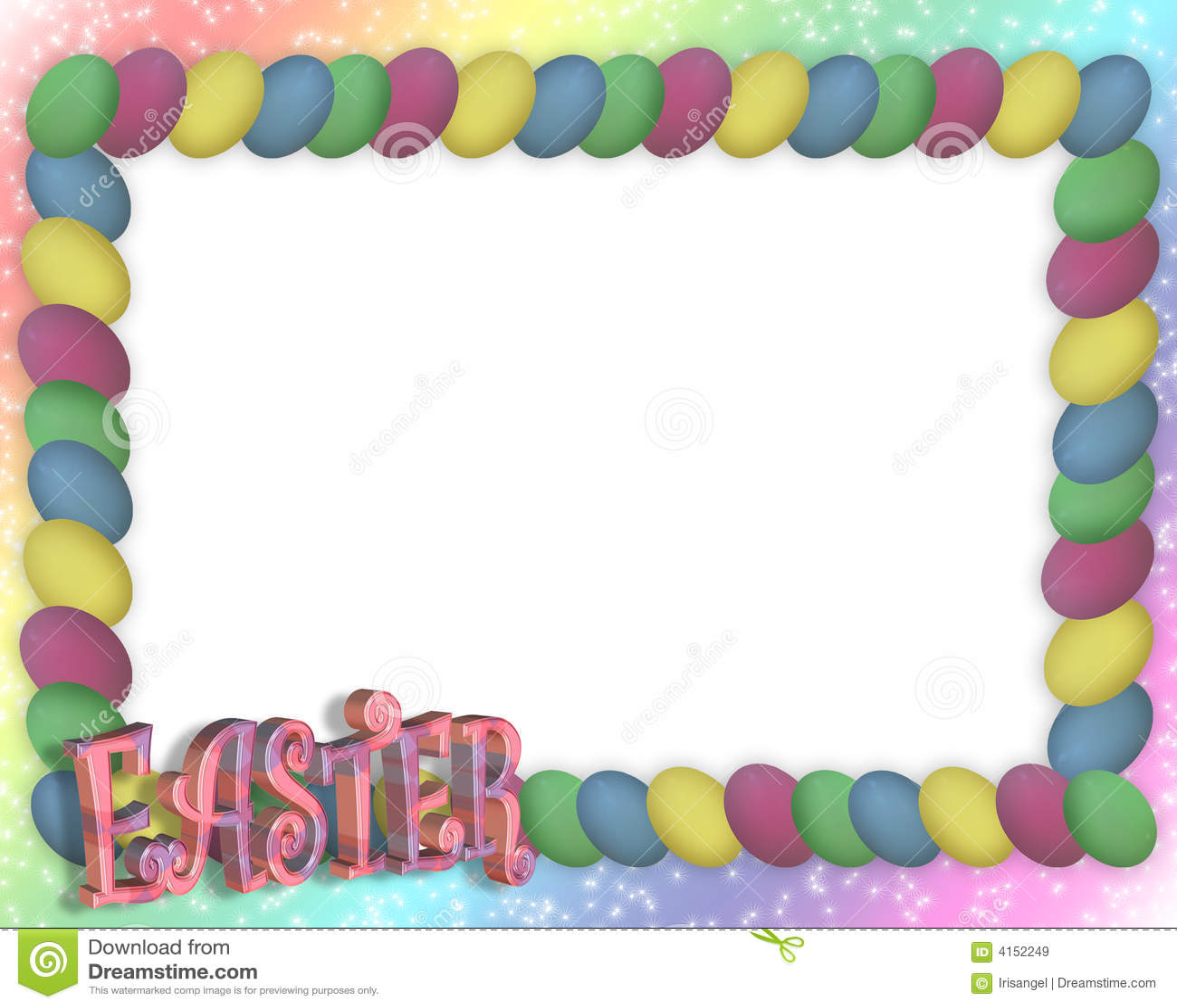 Easter Bunny Border Clip Art