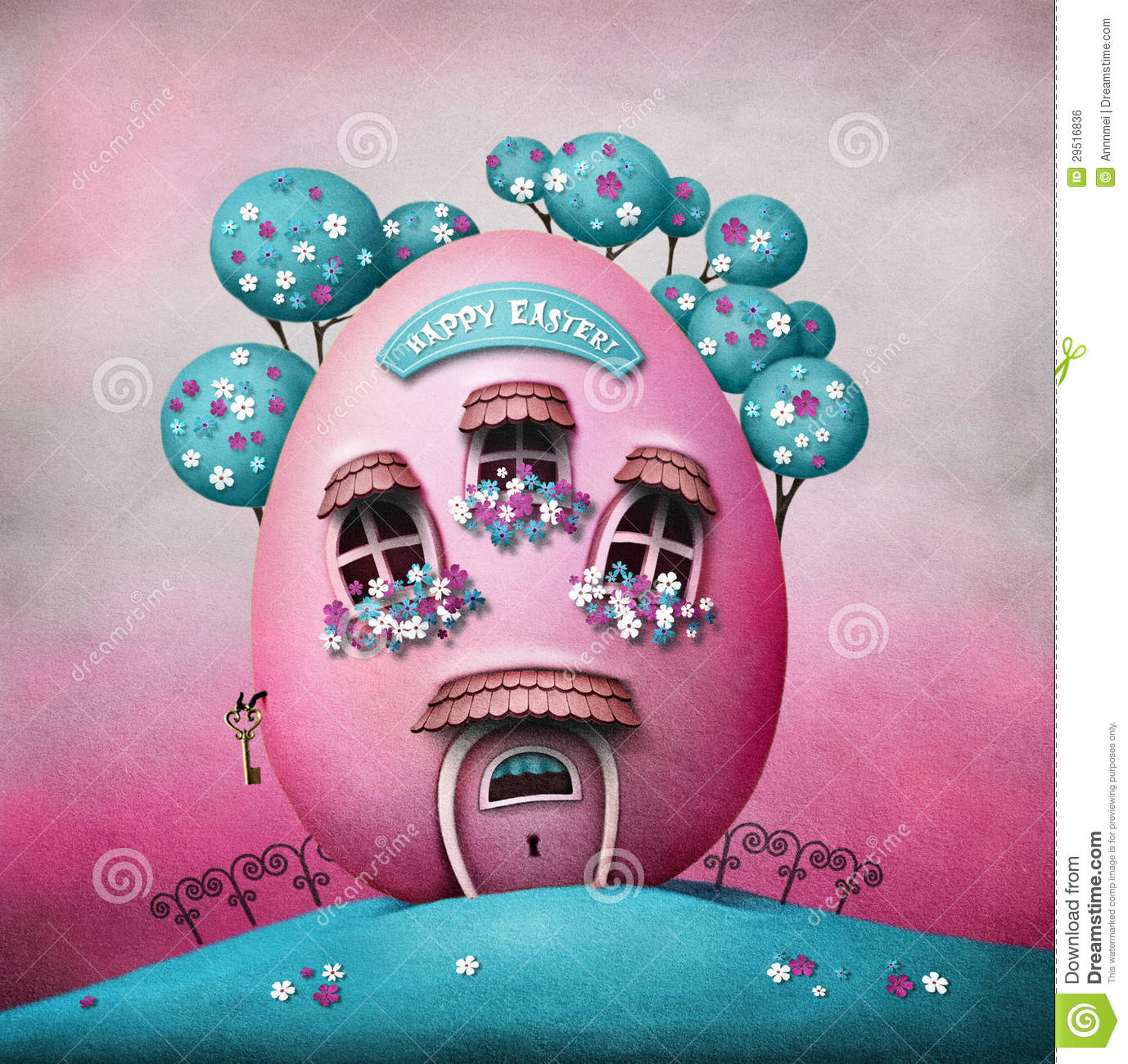 Easter Egg House Stock Illustration Image Of Graphic