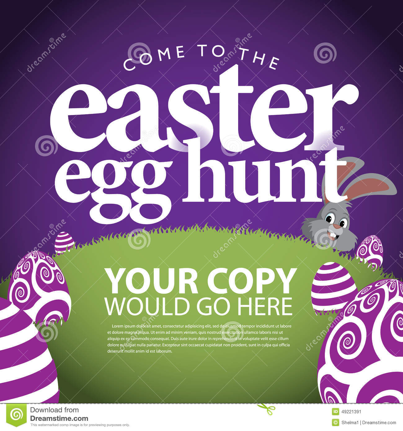 easter egg hunt ad background stock vector