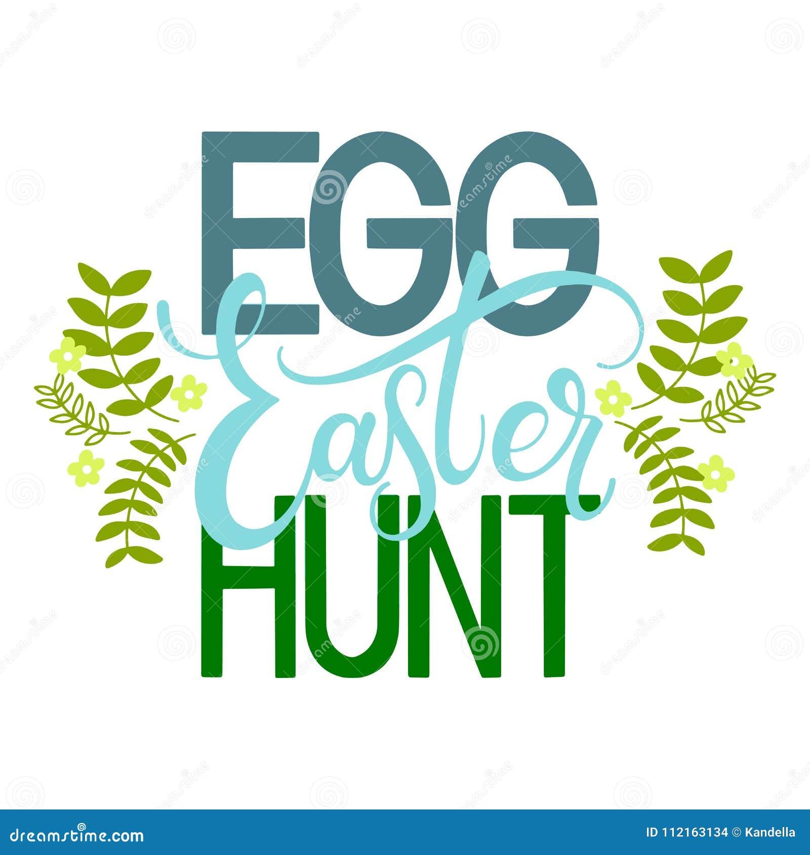 Easter egg hunt colorful lettering stock vector illustration of hand written easter phrases seasons greetings m4hsunfo