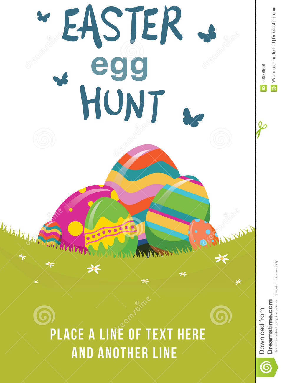 an easter egg hunt graphic stock illustration