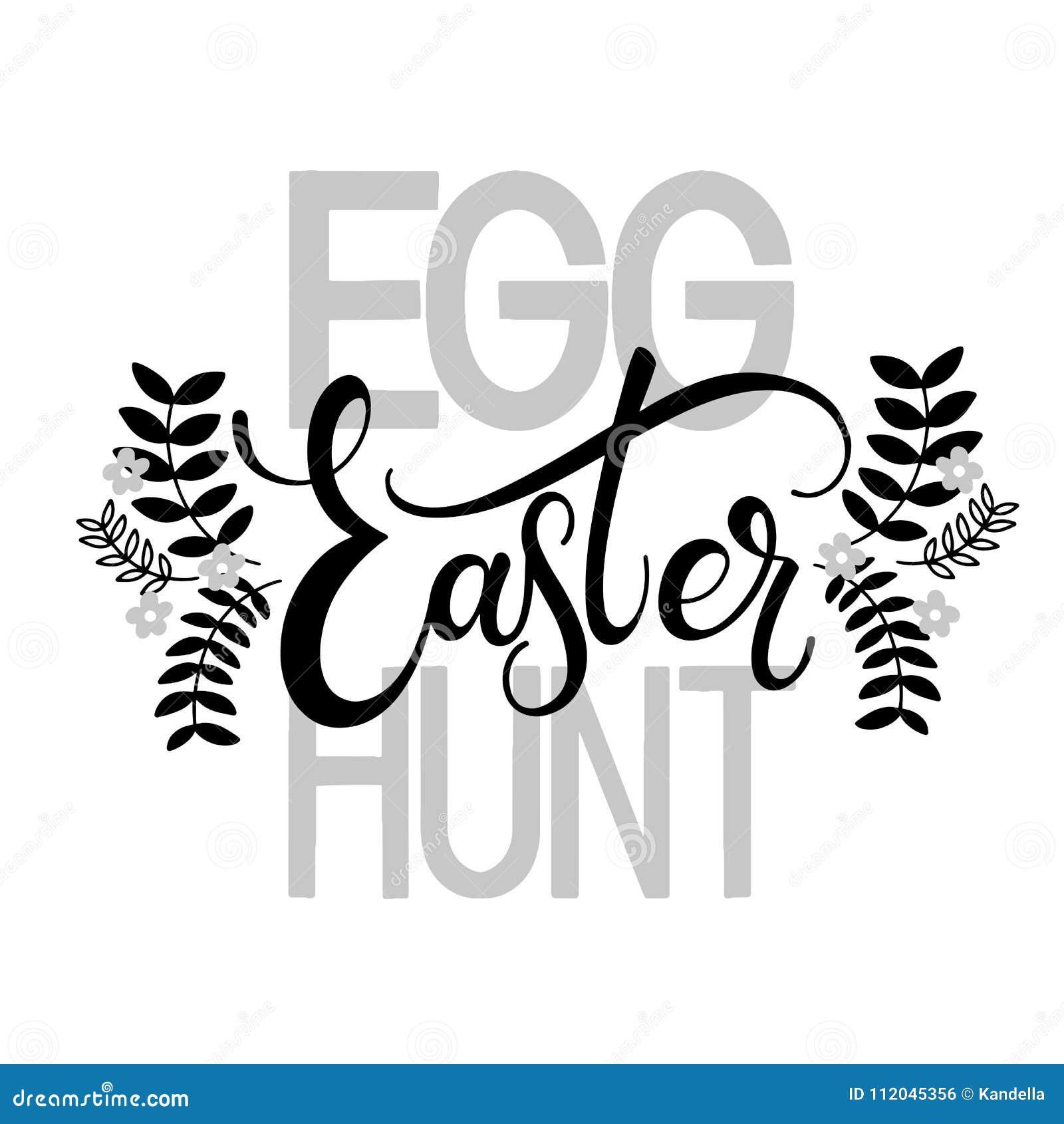 Easter egg hunt lettering stock vector illustration of happy download comp m4hsunfo