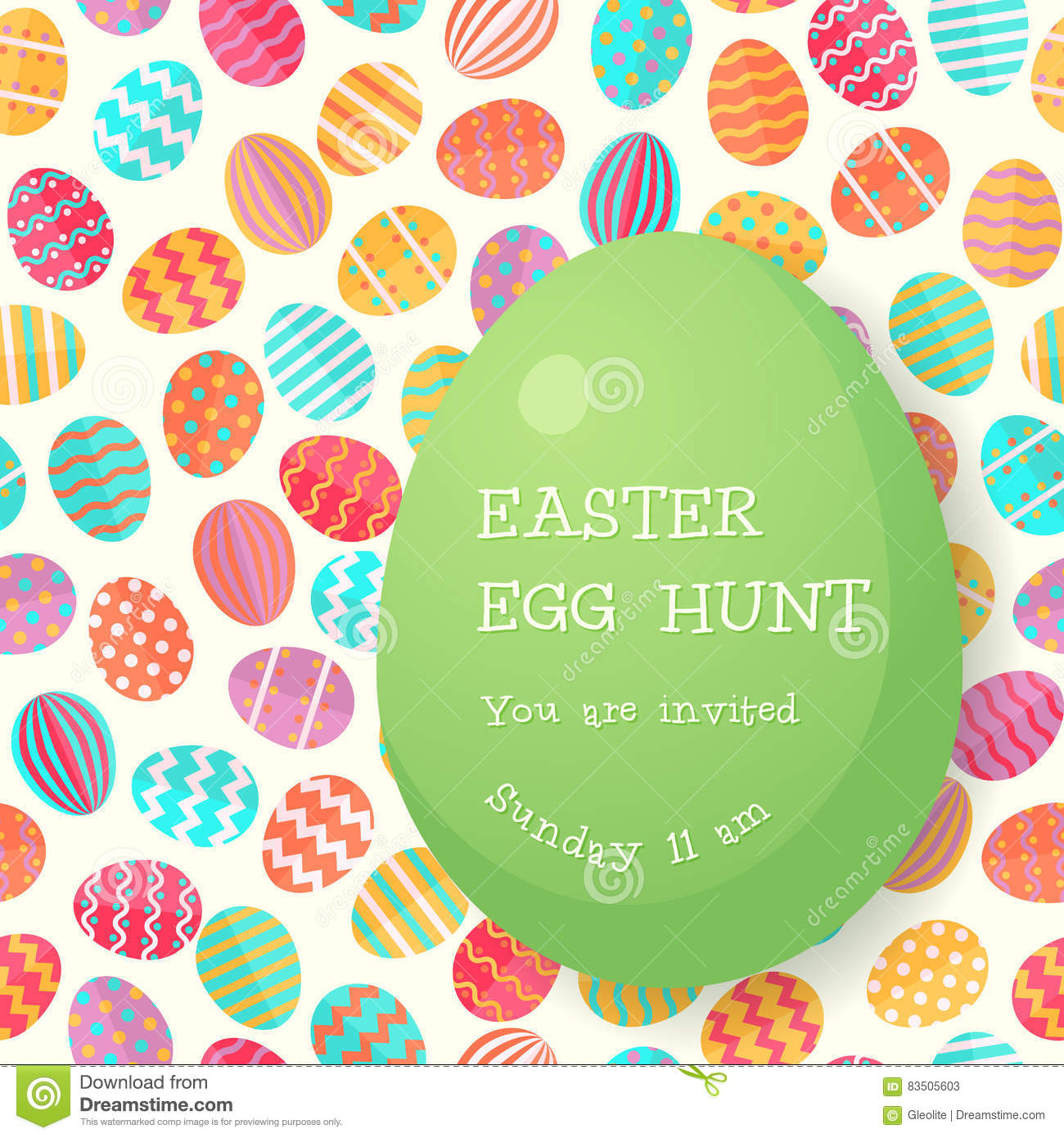 easter egg hunt poster template for holiday design stock vector easter egg hunt poster template stock photos
