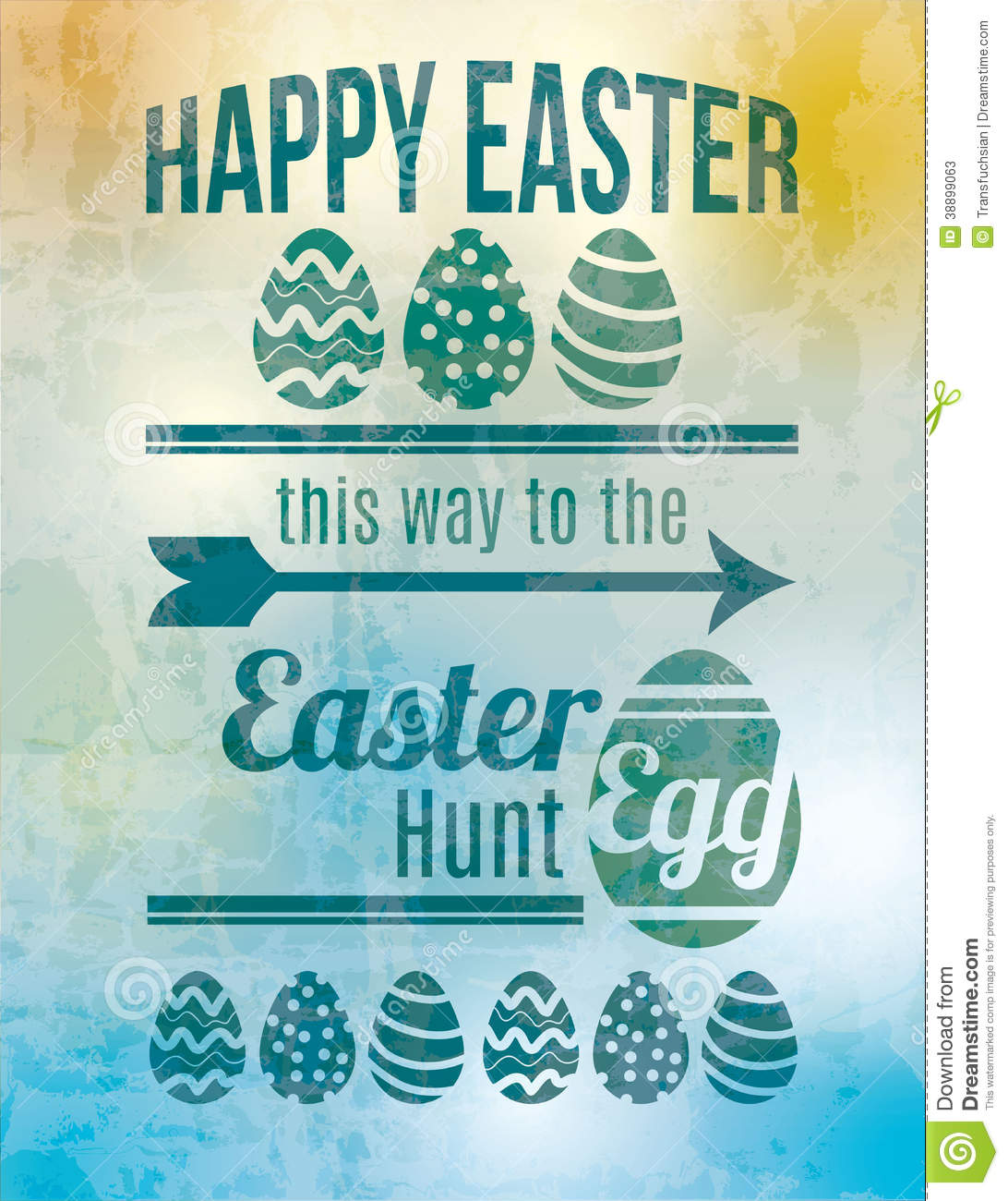 easter egg hunt sign stock vector