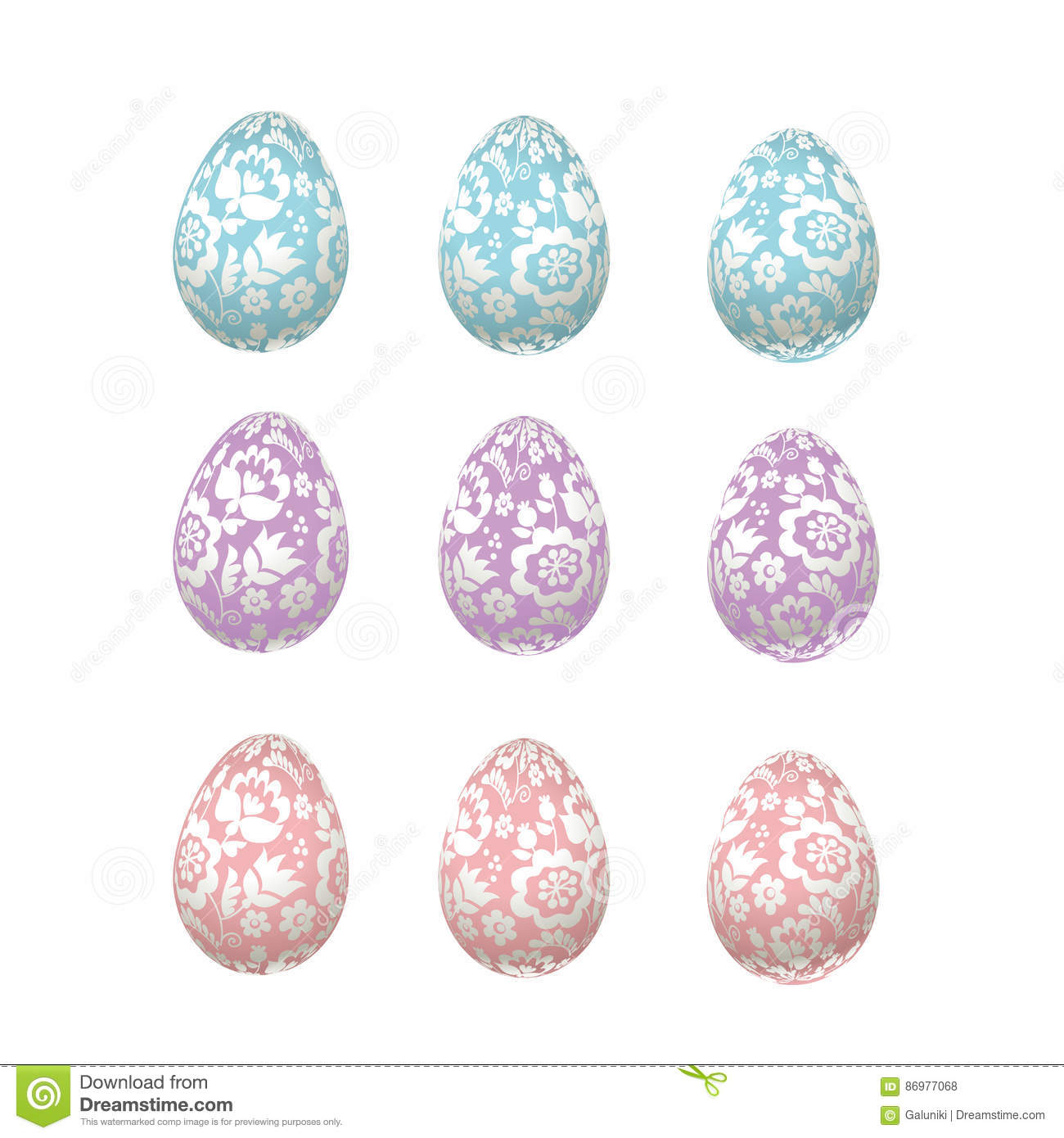 e4ab546d652 Easter egg pale color luxury decoration vector illustration. floral elegant  style decor on christian resurrection symbol. spring life icon in chick  feminine ...