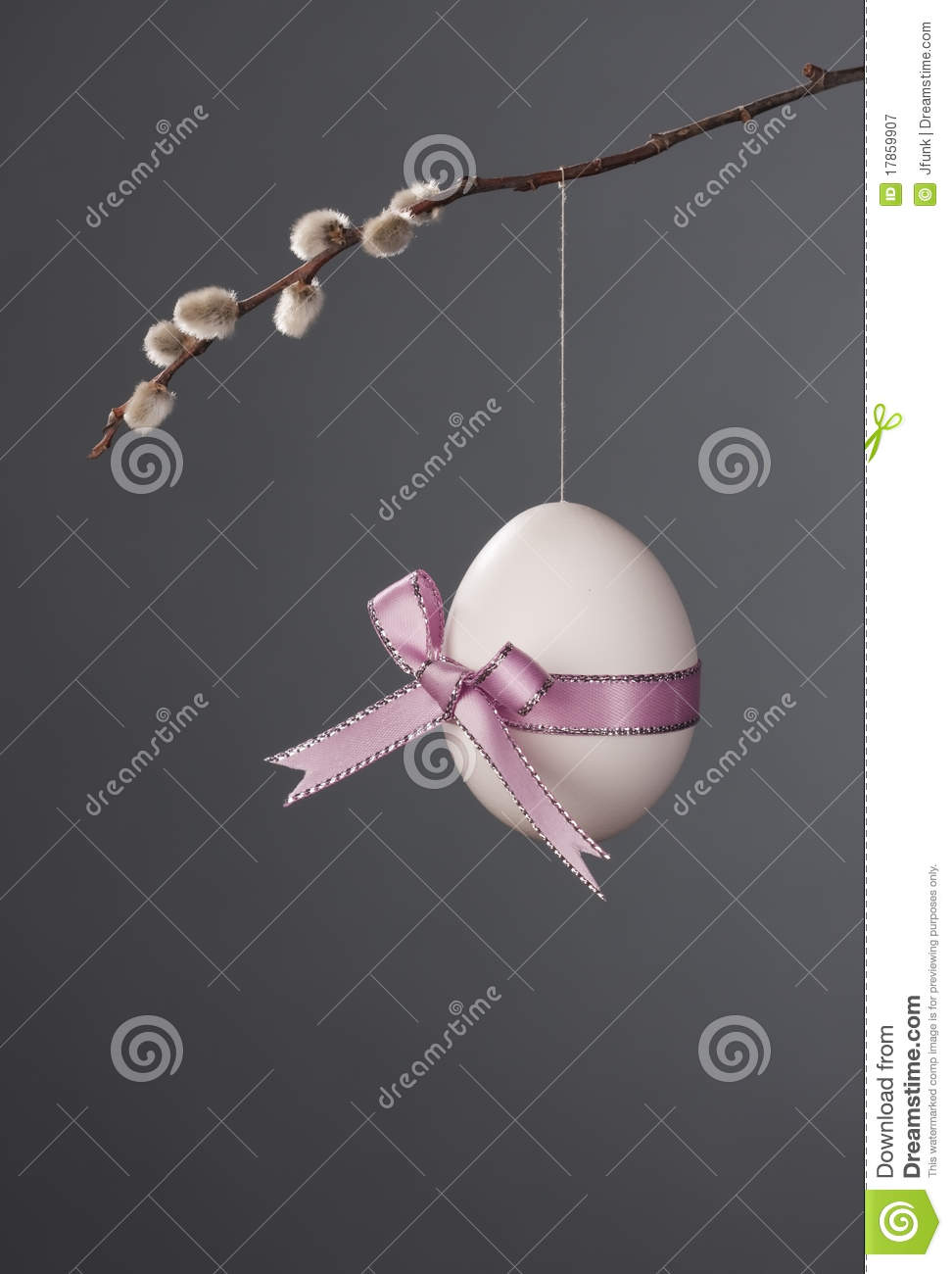 Easter Egg with Pink Bow