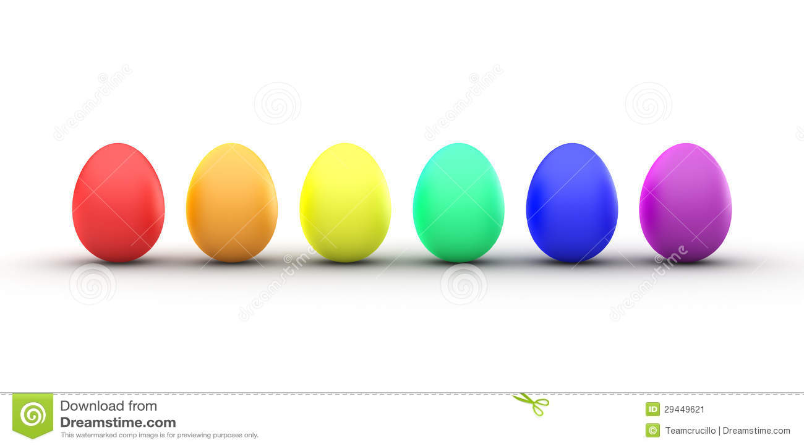 easter egg rainbow stock image image 29449621