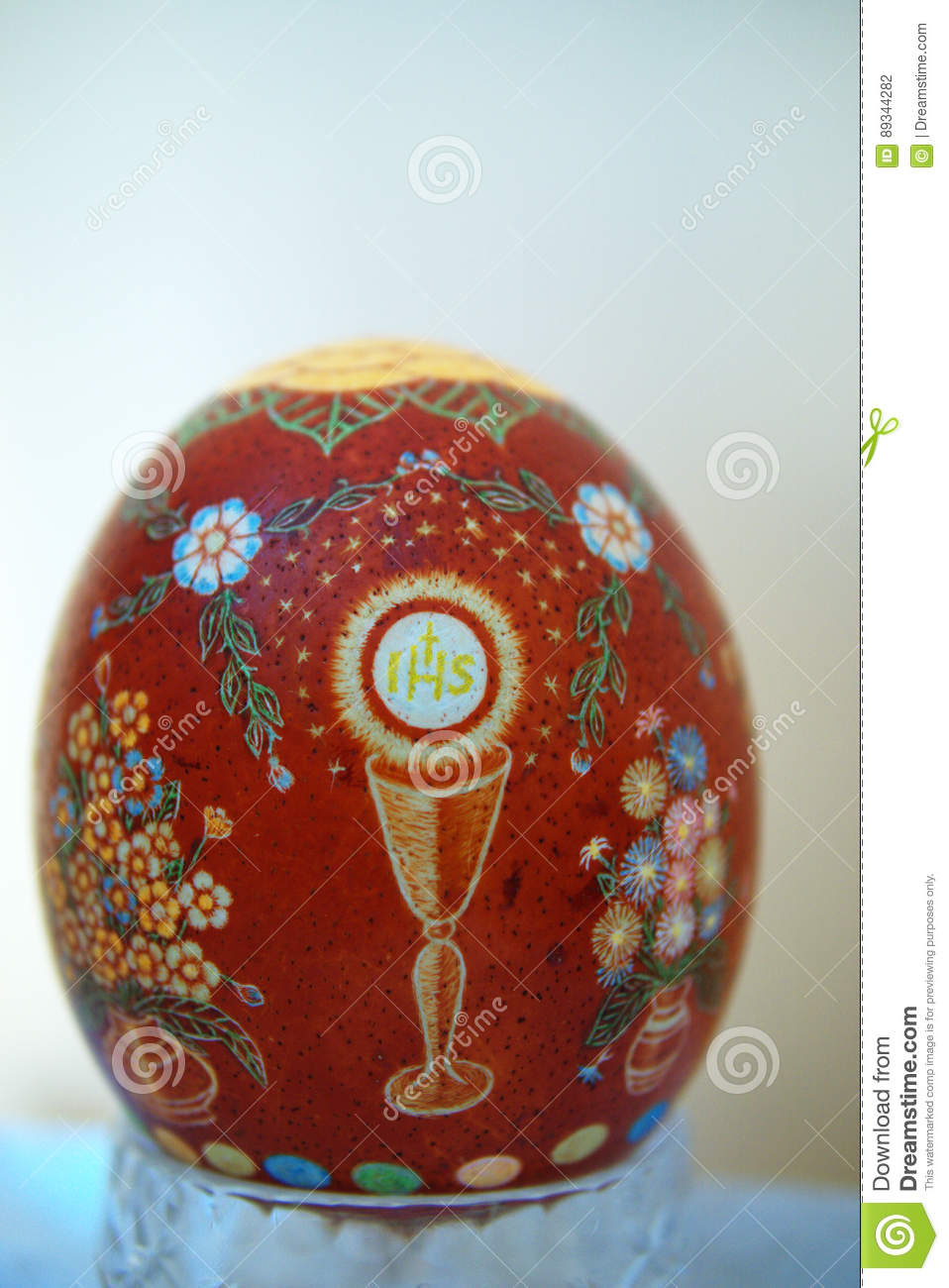 Easter egg scraped