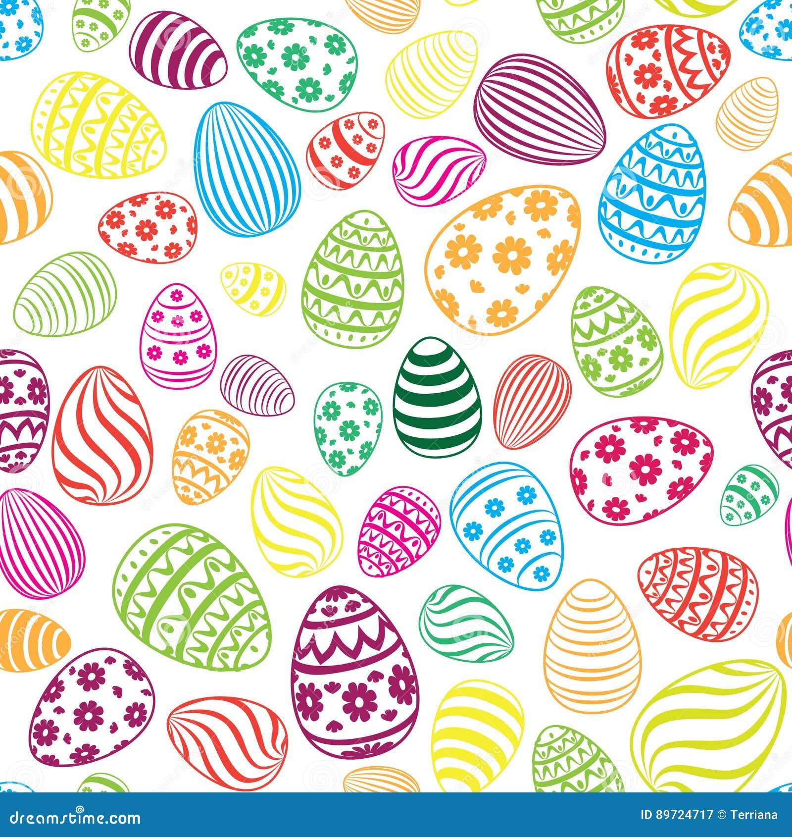 Easter egg seamless pattern holiday background stock illustration easter egg seamless pattern holiday background negle Choice Image