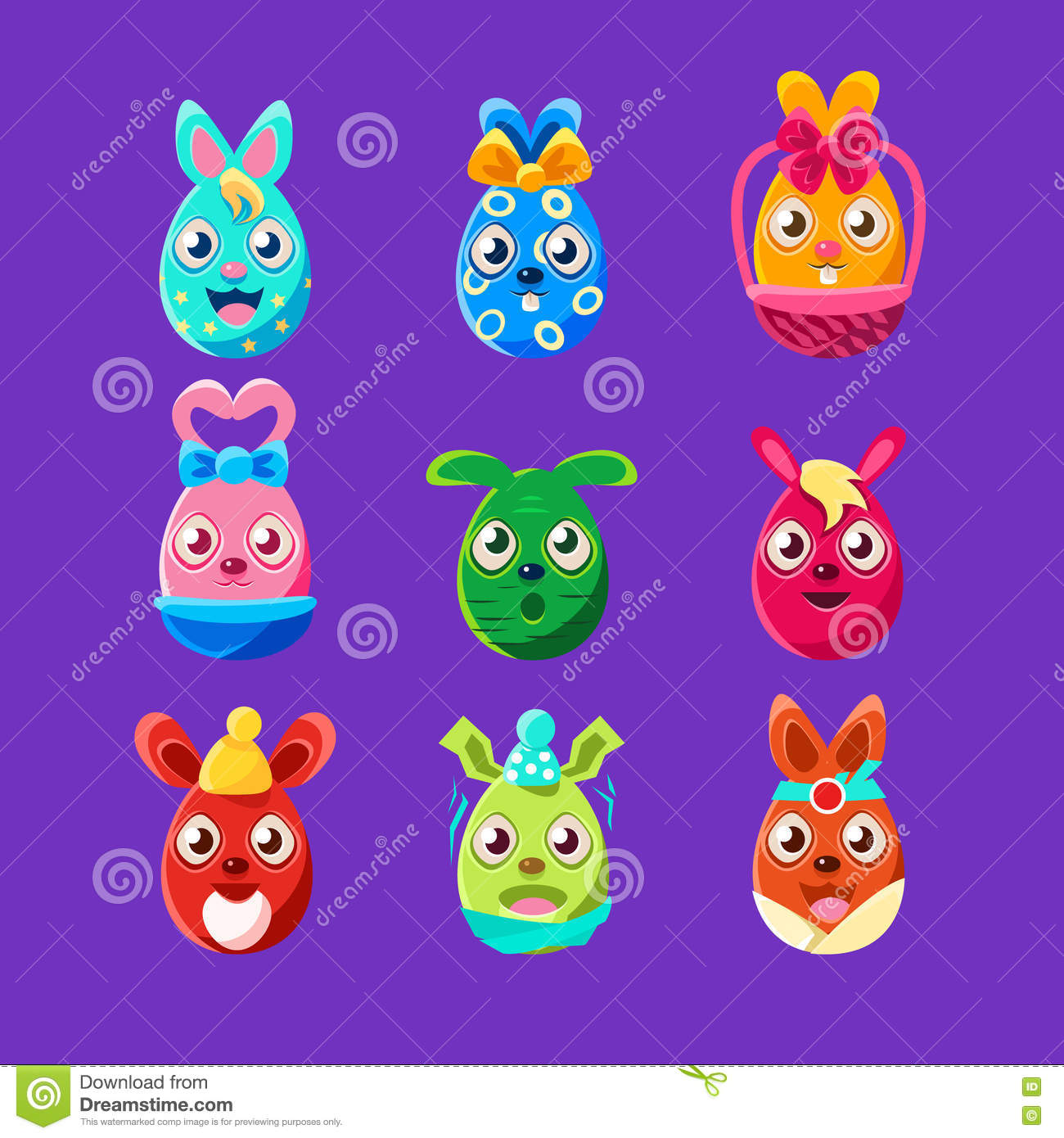 Easter symbols set stock vector illustration of jesus 67456438 easter egg shaped easter bunnies colorful girly sticker set of religious holiday symbols royalty free stock biocorpaavc