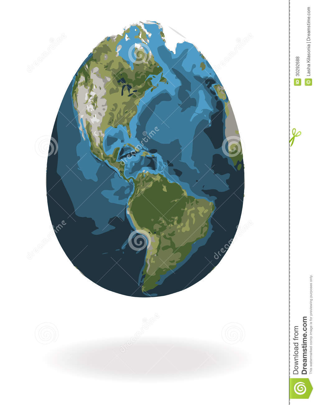 Easter Egg With World Map Royalty Free Stock Photos
