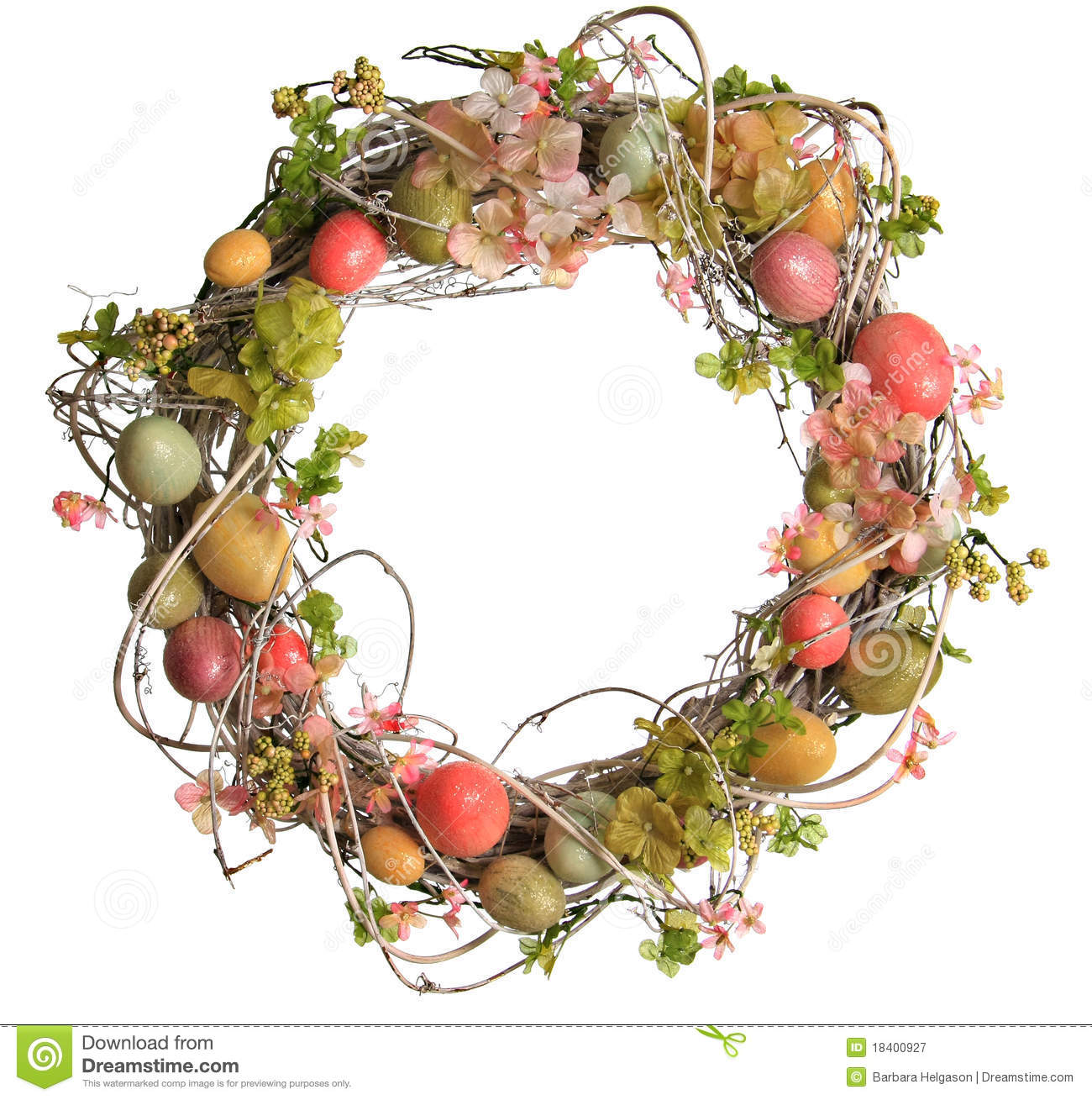 printable easter wreaths easter egg wreath royalty free stock photography image 2763
