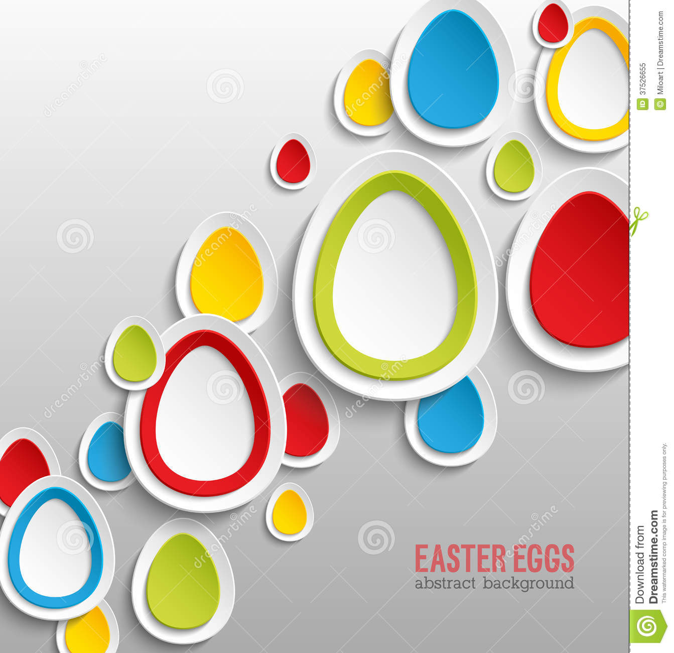 Easter Eggs Abstract Colorful Background. Royalty Free