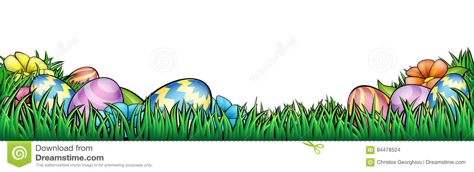 Easter Eggs Background stock vector. Illustration of ester - 84478524