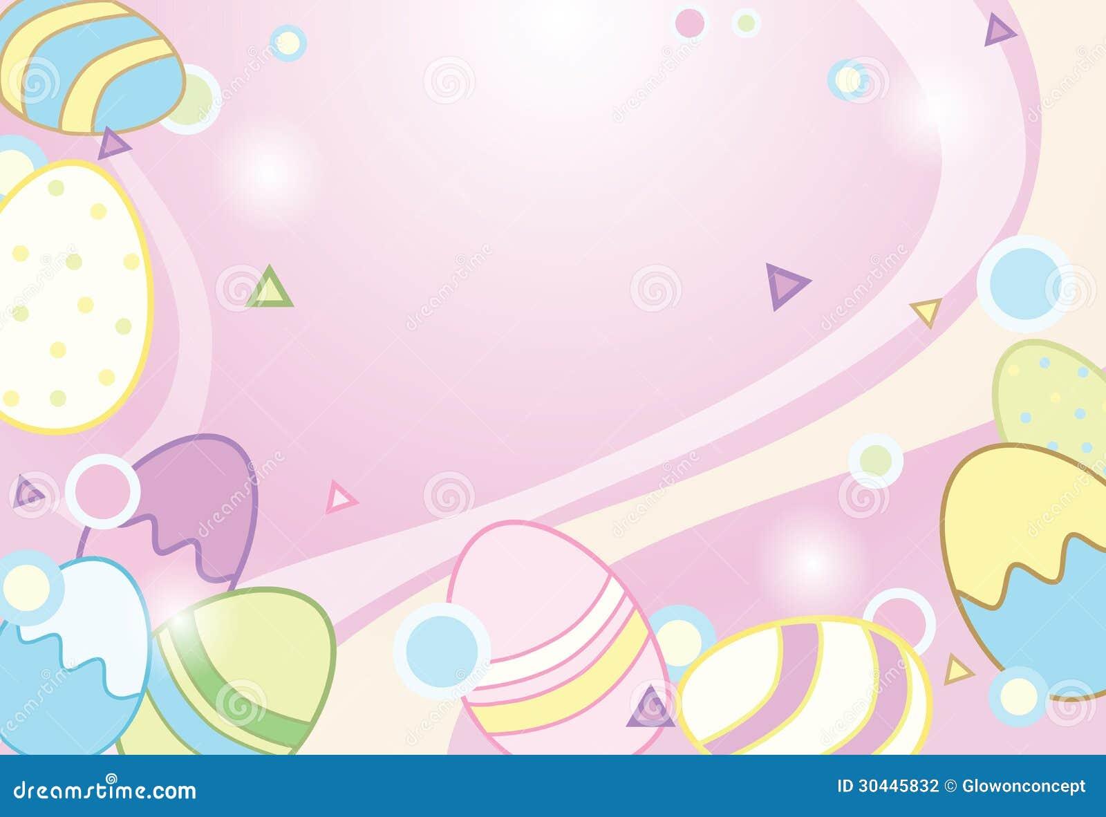 Easter Eggs Background Illustration Stock Illustration