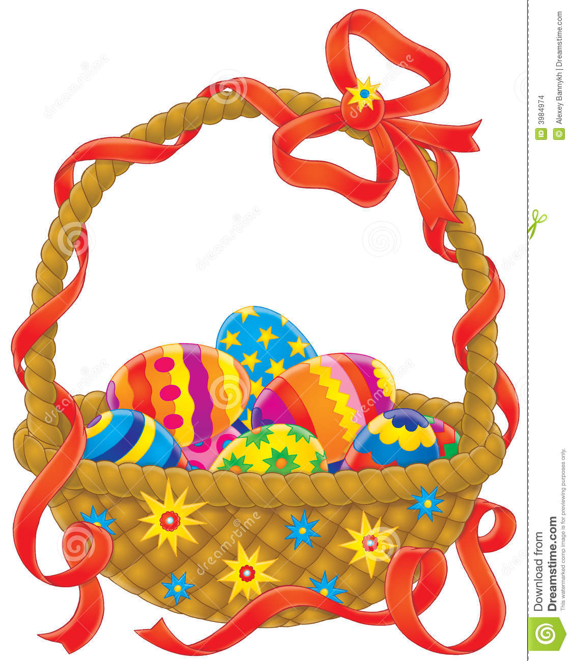 easter eggs basket stock images image 3984974