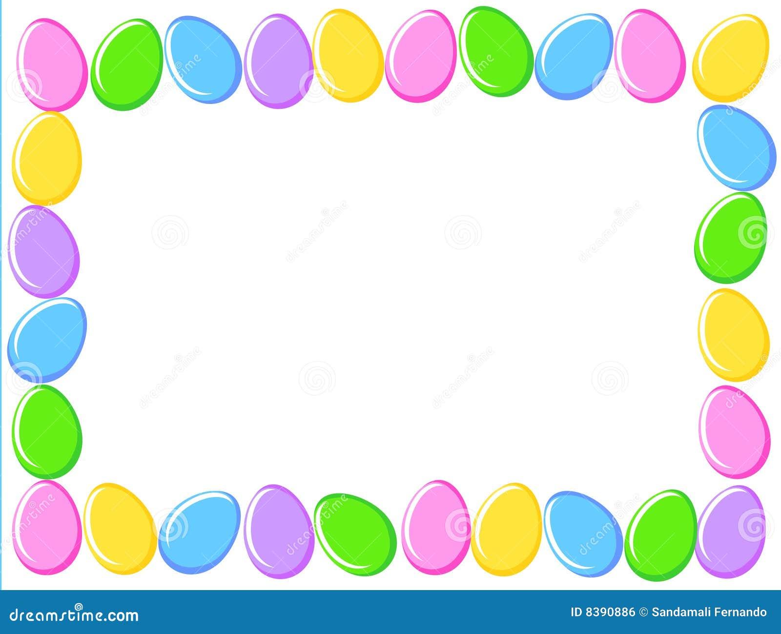 Easter Eggs Border Stock Vector. Illustration Of Frame