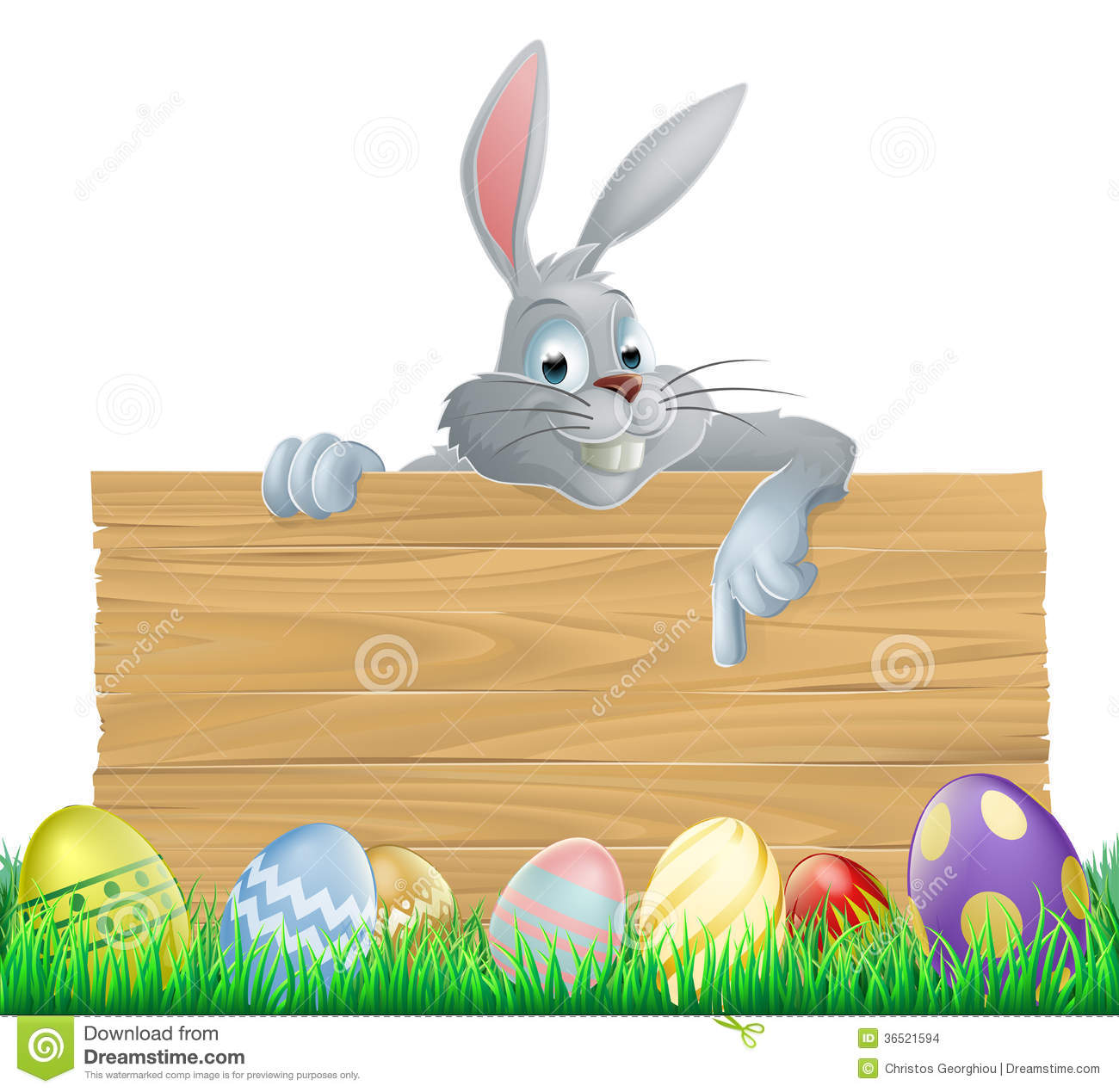 easter eggs and bunny sign stock vector  image of eggs