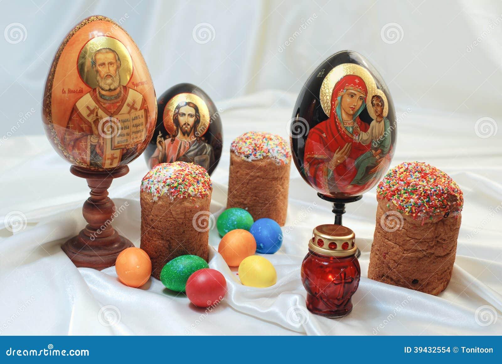 Easter Eggs Cake Jesus Christ Saint Nicholas Holy Mary ... Easter Eggs Jesus