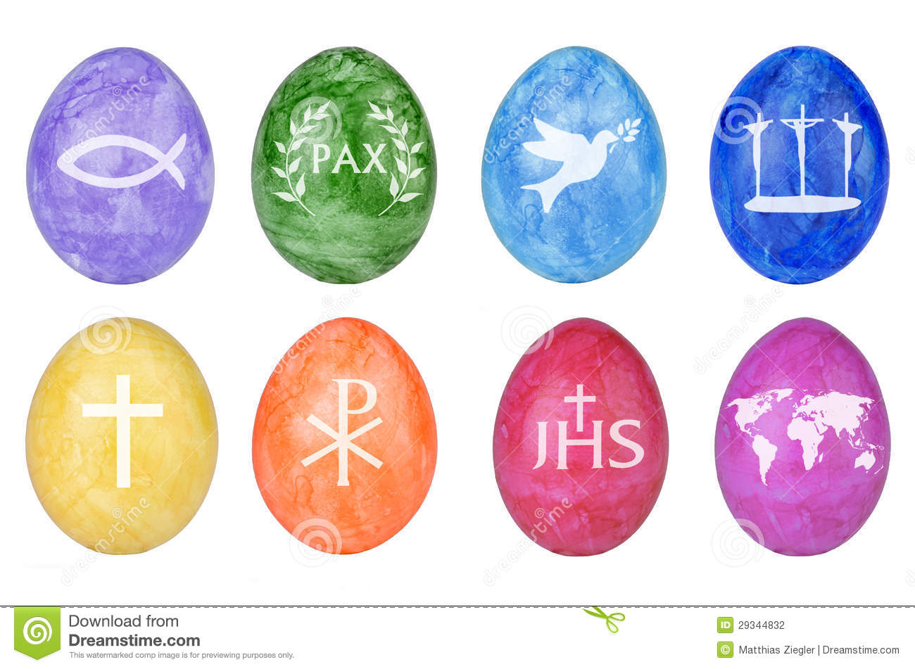 Easter Eggs With Christian Symbols Stock Photography - Image: 29344832