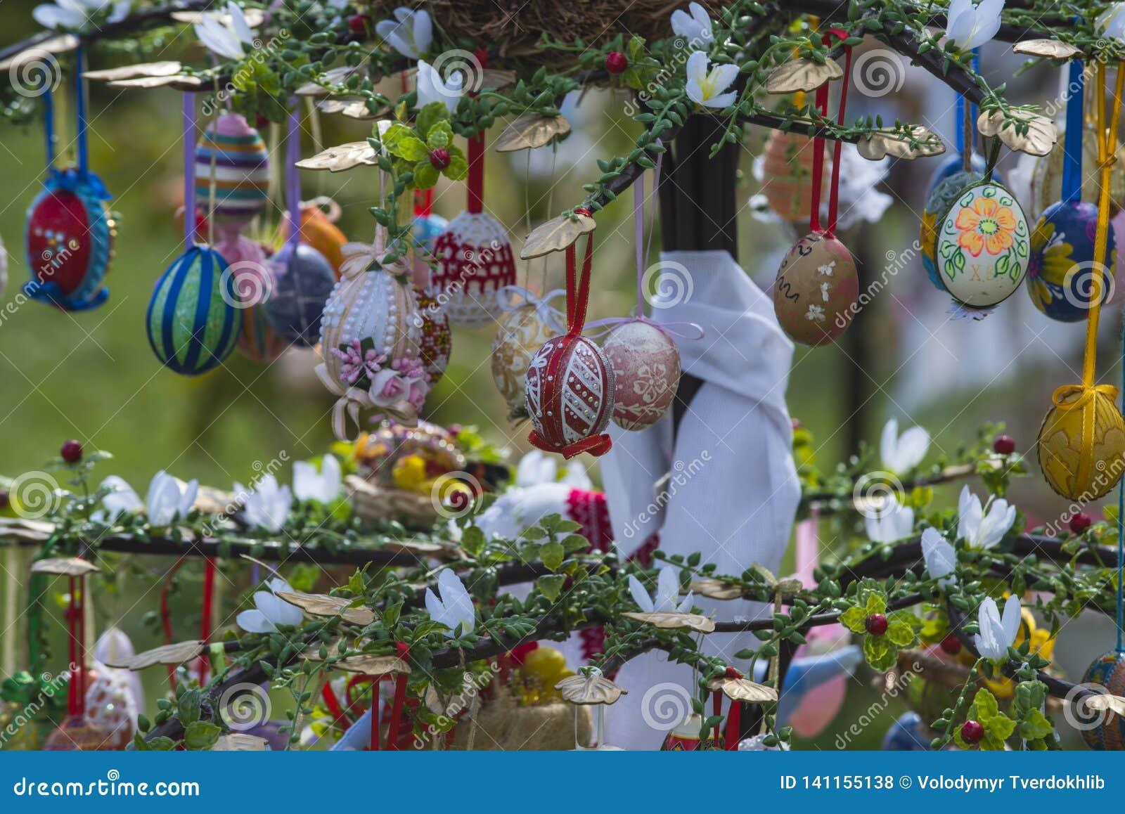 8 Easter Eggs Hang Photos - Free & Royalty-Free Stock Photos