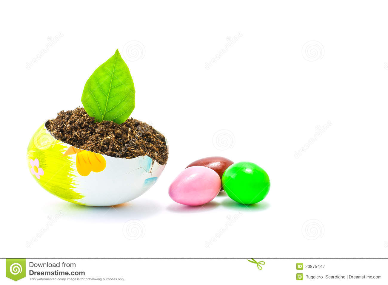 Download Easter Eggs Decorated And Earth Stock Image - Image of paint, yolk: 23875447