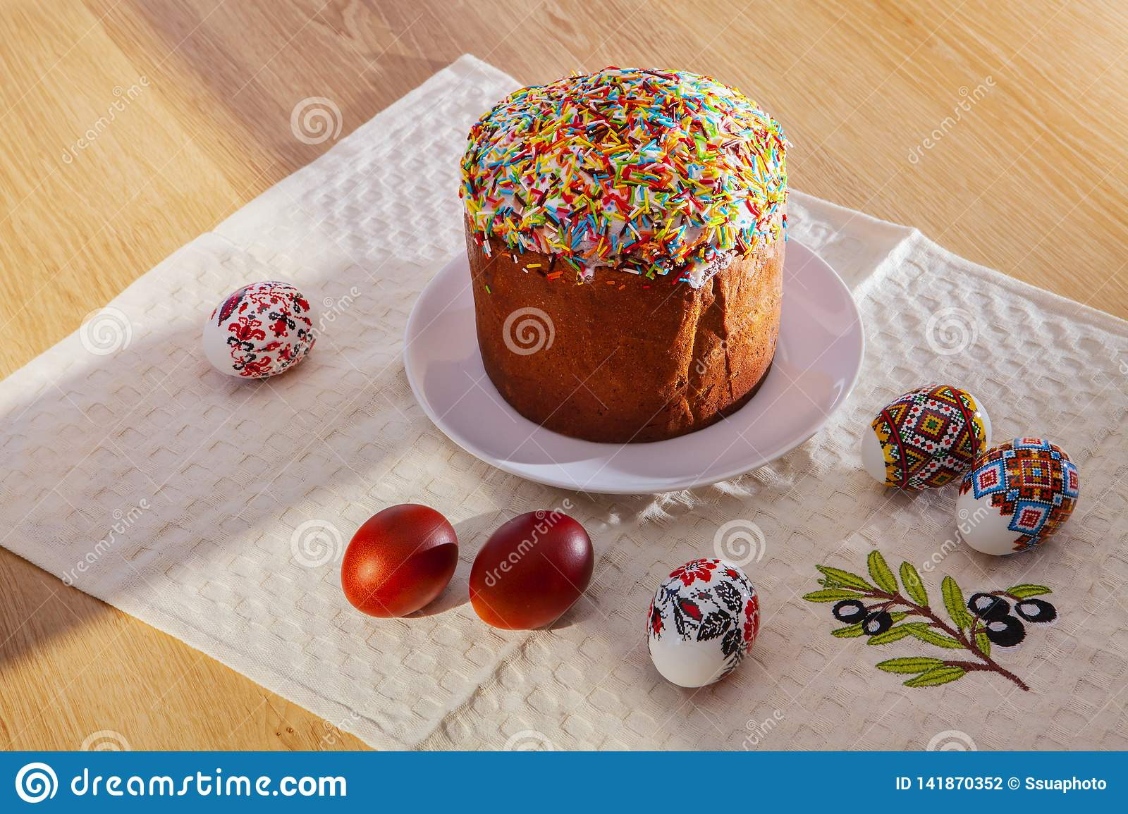 Easter Eggs and egg bread