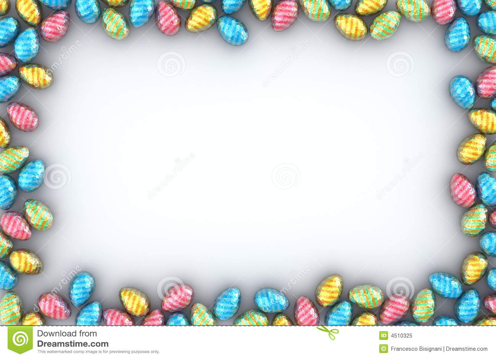 Easter Eggs Frame Royalty Free Stock Photo