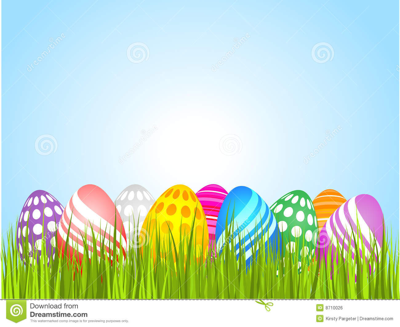 Easter Eggs In Grass Royalty Free Stock Image - Image: 8710026