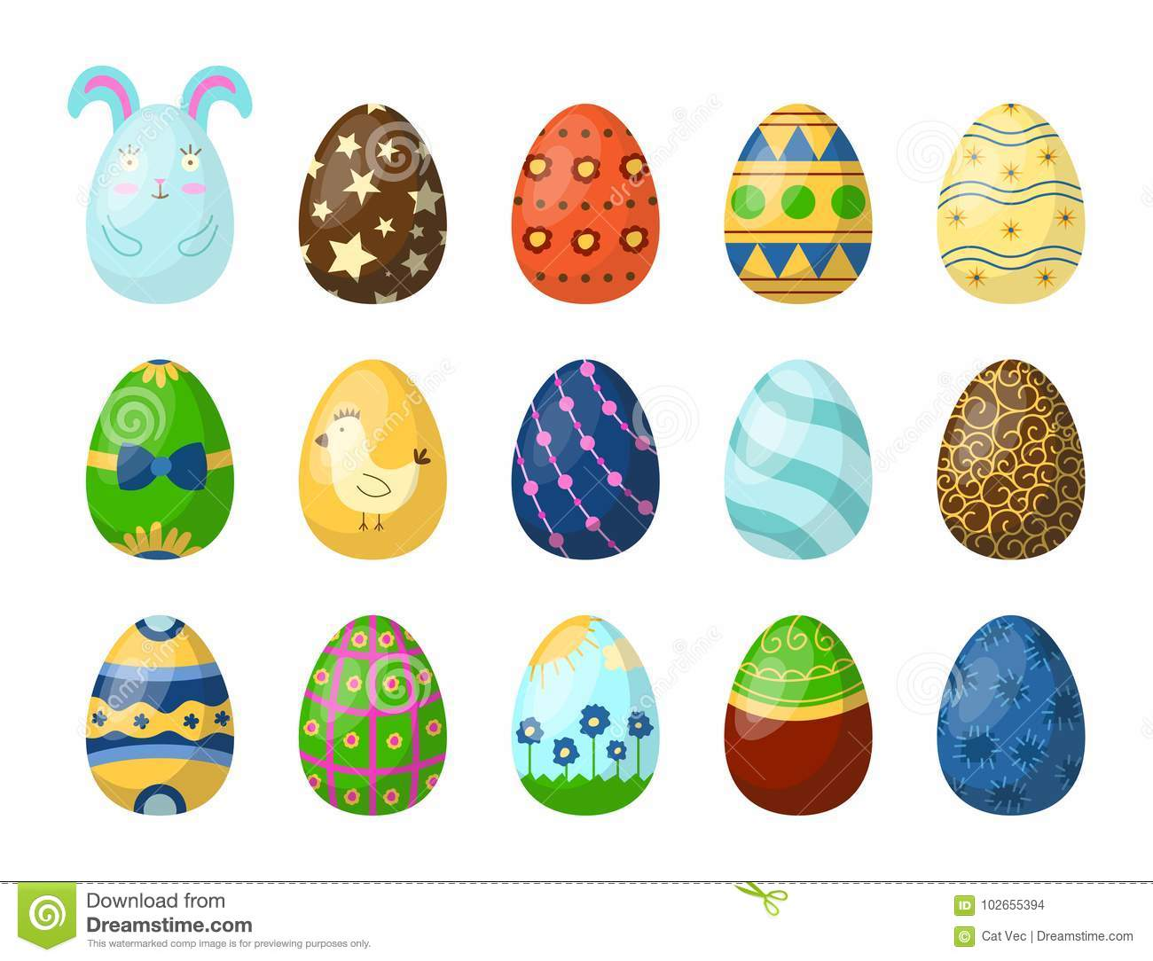Easter Eggs Painted With Spring Pattern Multi Colored Organic Food ...