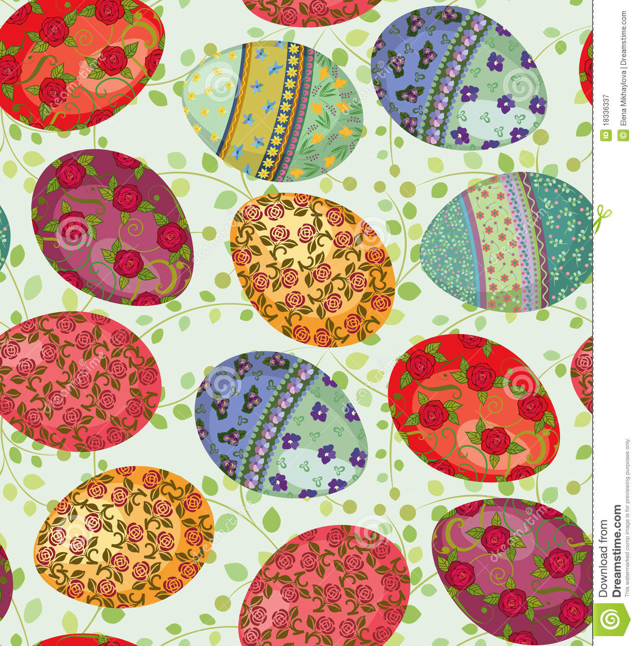 Easter Eggs Pattern Royalty Free Stock Photography - Image: 18336337