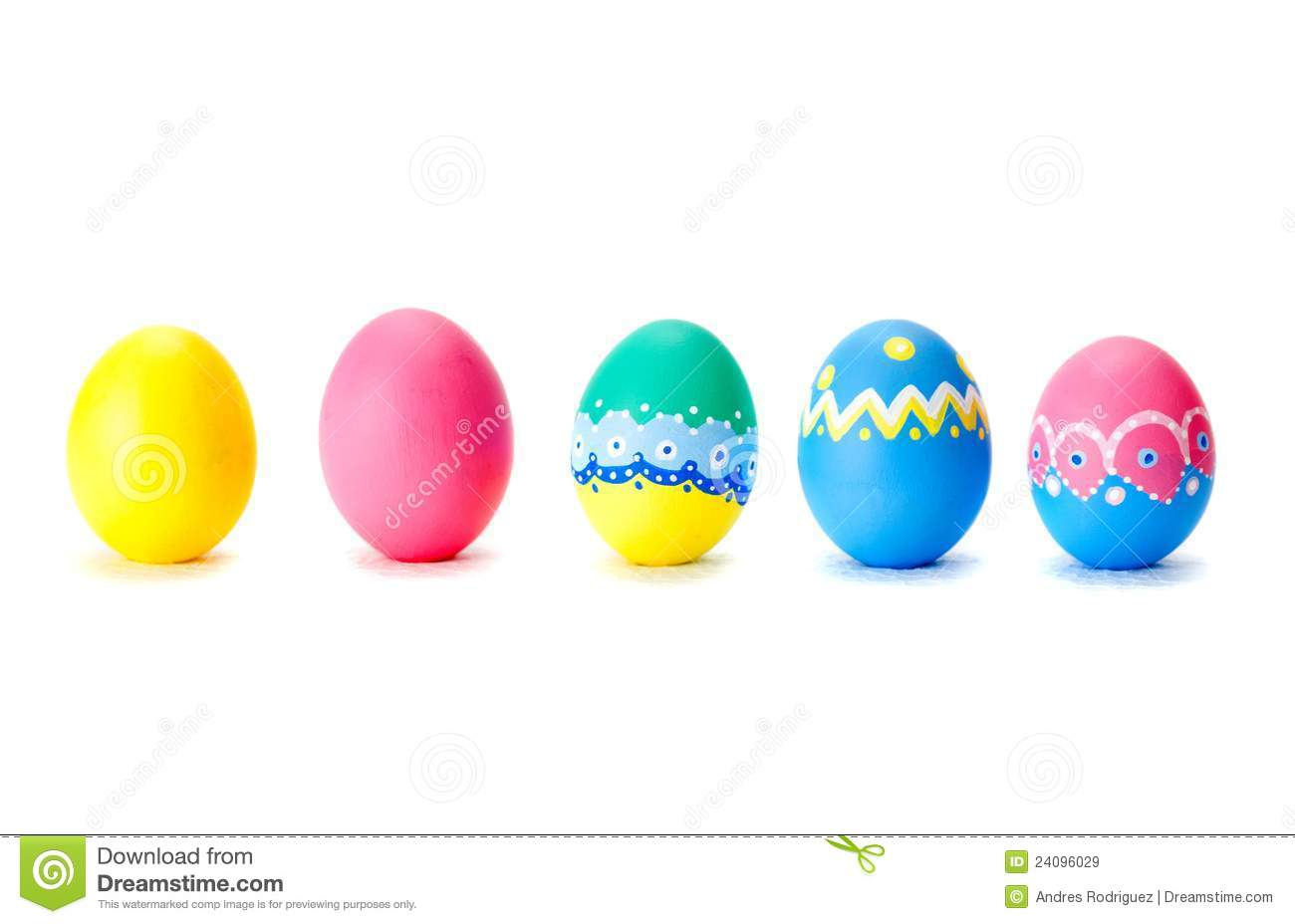 Easter eggs in a row royalty free stock images image 24096029 - Resource com verven ...
